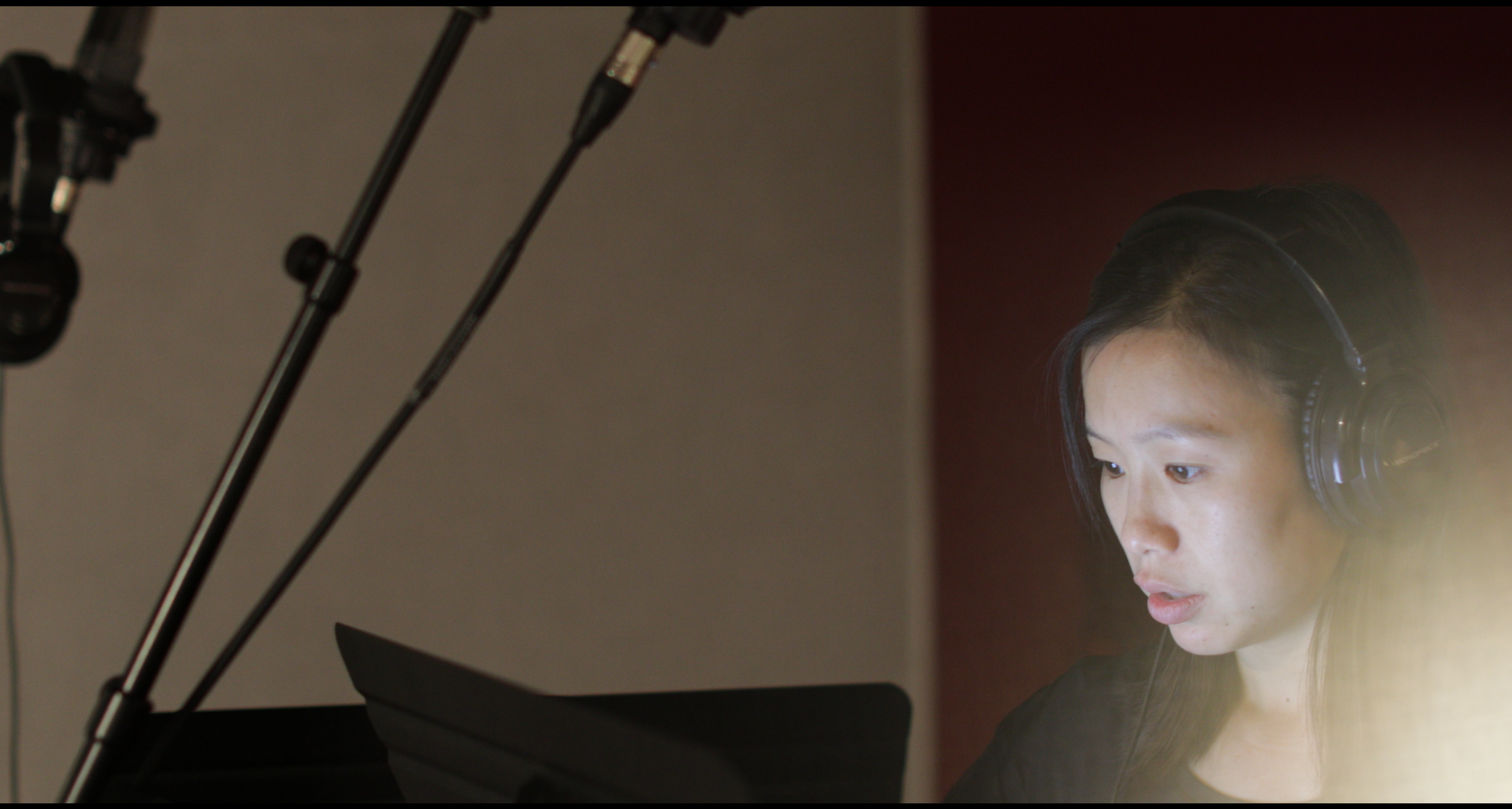 Annie Chang in the studio recording the first season of Heroics. September 2019.